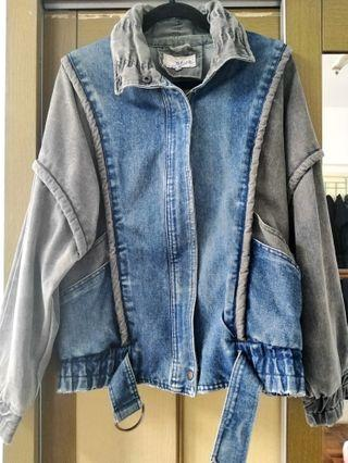 Weathered blues oversized Denim jacket #1111