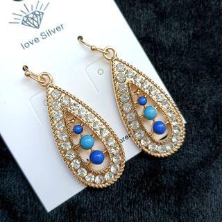 (買5送1)歐美流行民族風耳勾式寶石耳環#剁手時尚