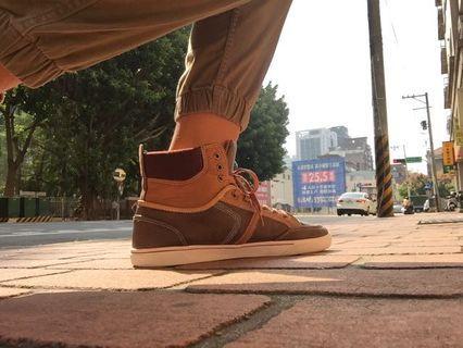 高筒歐洲帶回棕色休閒靴#出清2019