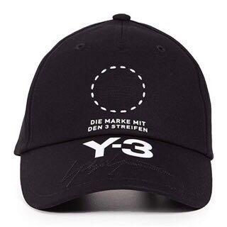 Y-3刺繡老帽 保證正品 台灣公司貨 假的我陪你睡