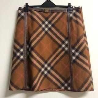 Burberry格紋羊毛裙