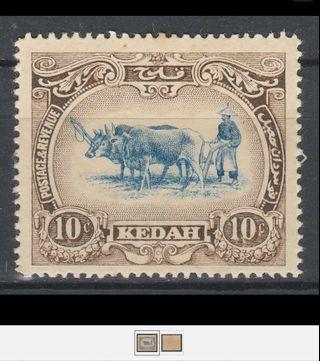 Malaya Kedah 1912 Definitive 10c MLH SG6 A1680