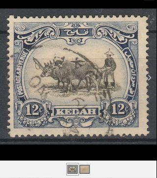 Malaya Kedah 1926 12c Definitive Used Wmk MSCA SG58 M1690