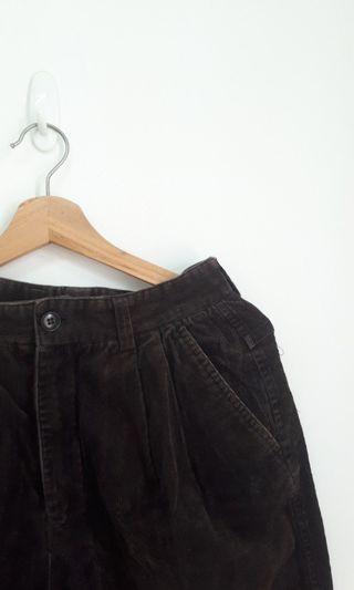 古著燈芯絨寬褲