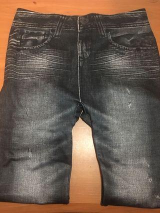 申縮褲👖 牛仔紋 二手全新