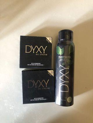 DYXY foundation + setting spray