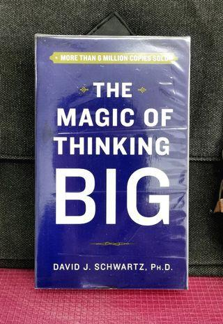 《NEW BOOK CONDITION + Classic Self-Enrichment : How To Set Goal High Then Exceed Them!》David J. Shwartz - THE MAGIC OF THINKING BIG