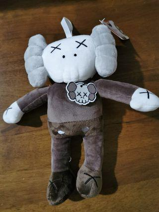KAWS XX HOLIDAY Companion Brown Figure Model Plush Toy Art Design Collection with tag Soft Doll Patung X Sesame Street