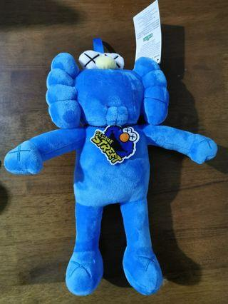 KAWS XX BFF Blue Figure Model Plush Toy Art Design Collection with tag Soft Doll Patung X Sesame Street