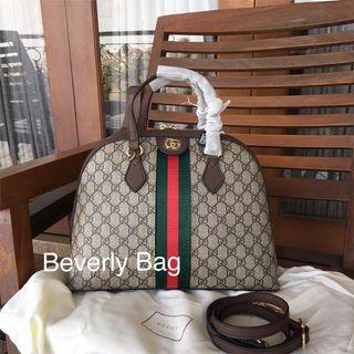 Jual Tas Bag Gucci Dome Canvas LEATHER MIRROR QUALITY - Coklat