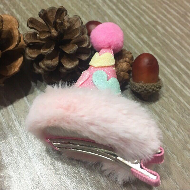 {⏰超值加購$180}正韓 手作髮飾  立體網紗兔耳壓夾、毛毛愛心小帽壓夾🈴️售