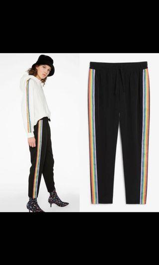 monki rainbow stripe trousers