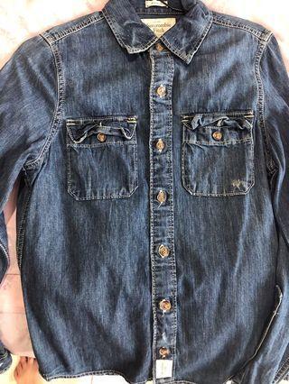 Abercrombie denim shirt size small