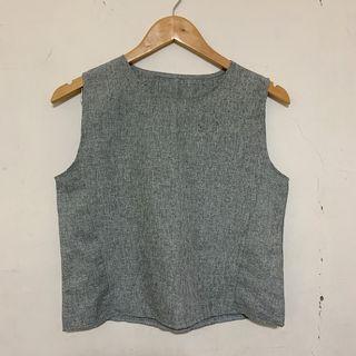 OL韓系灰色背心+短褲套裝