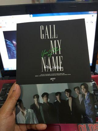WTS GOT7 CALL MY NAME OFFICIAL ALBUM/PHOTO ESSAY/POSTCARD
