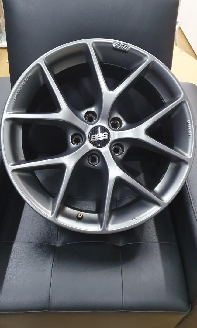 18 5x120 BBS SR (Himalaya grey)