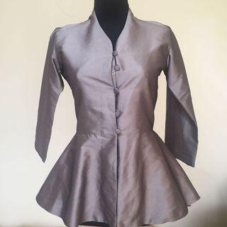 Grey Batik Top