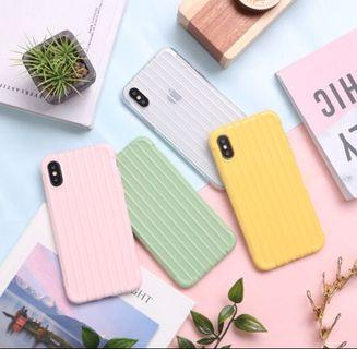 Silicon case Iphone,oppo,xiaomi,vivo pastel