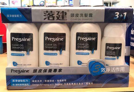 Costco好市多 PREGAINE 落建頭皮洗髮露 400ml x3入附200ml  保護頭皮強健髮根 shampoo