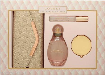 Sarah Jessica Parker Lovely Set 100ml EDP + 10ml Roller Ball + Mirror + Clutch (Pre-Order from Europe - Delivery on Jan 2020)
