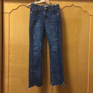 [僅穿過1次]造型褲管牛仔褲