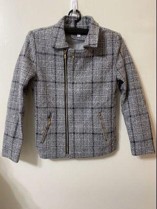 羊毛合身短版大衣