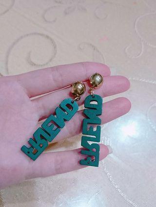 #剁手時尚 耳環 耳針 圖案耳環 造型耳環 耳飾 墜式