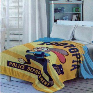 全新迪士尼瘋狂動物城雙人絨毛毯親柔毯180*200公分