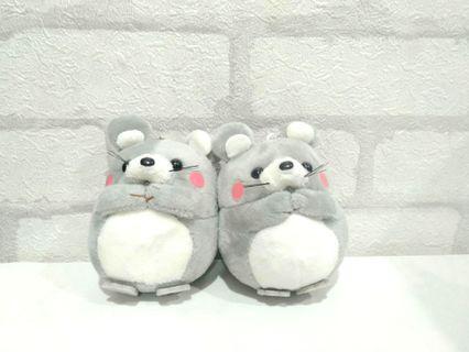 灰色腮紅小老鼠玩偶