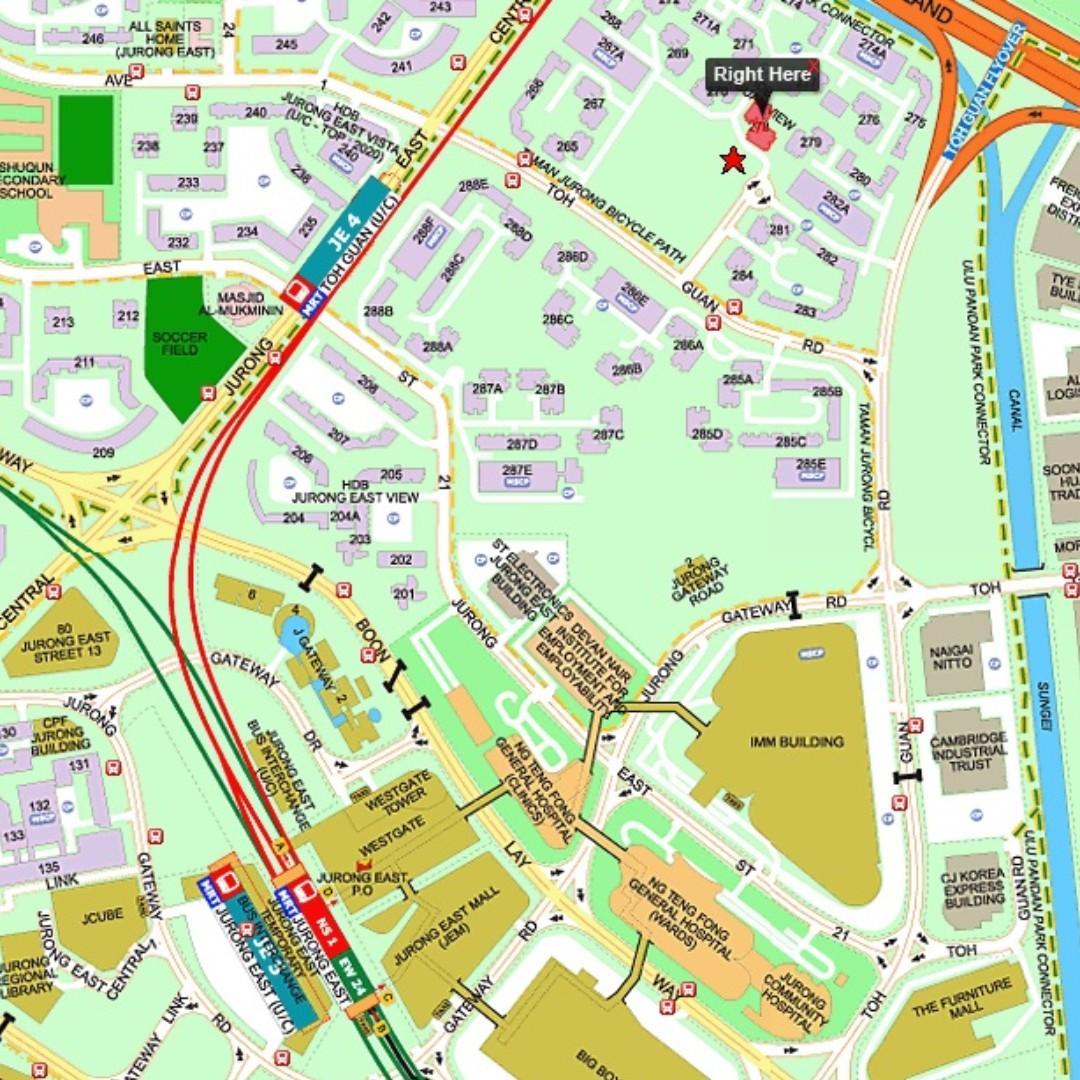 278 Toh Guan Rd @ Jurong East - Near Jurong East / Bukit Batok / NEW Toh Guan MRT / IMM /JCube /JEM