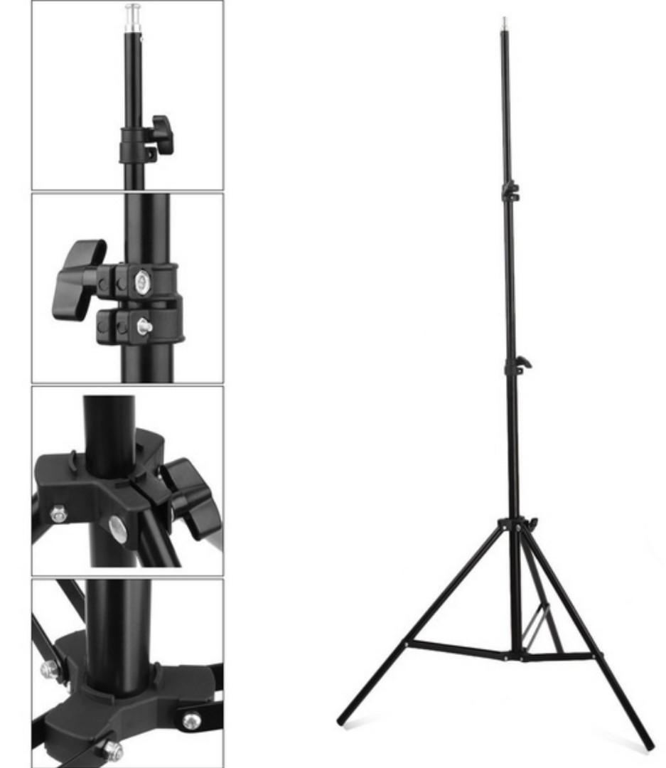 65W Photo Studio 3 Soft Box Light Stands Lighting Kit Diffuser
