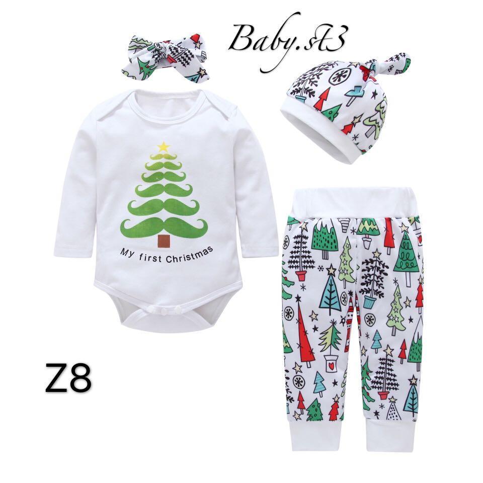 🎄團購優惠價嬰兒男女童聖誕服裝套裝🎉
