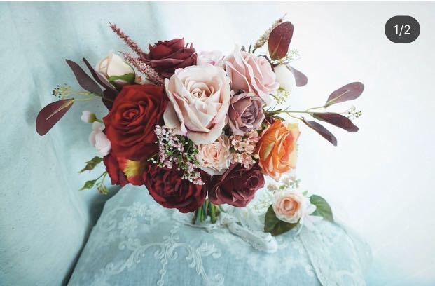 新娘花球 絲花花球