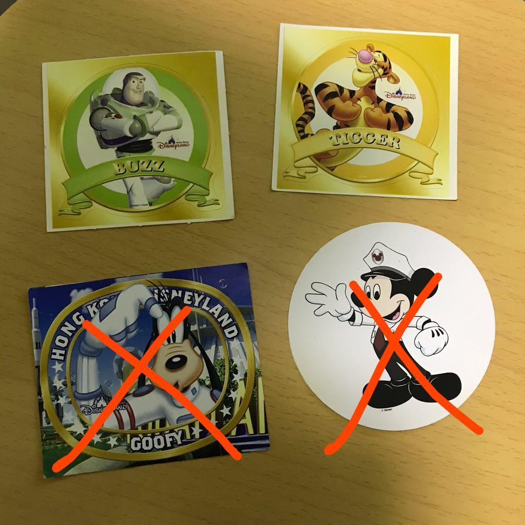 絕版舊款香港迪士尼樂園貼紙 Hong Kong Disneyland Stickers