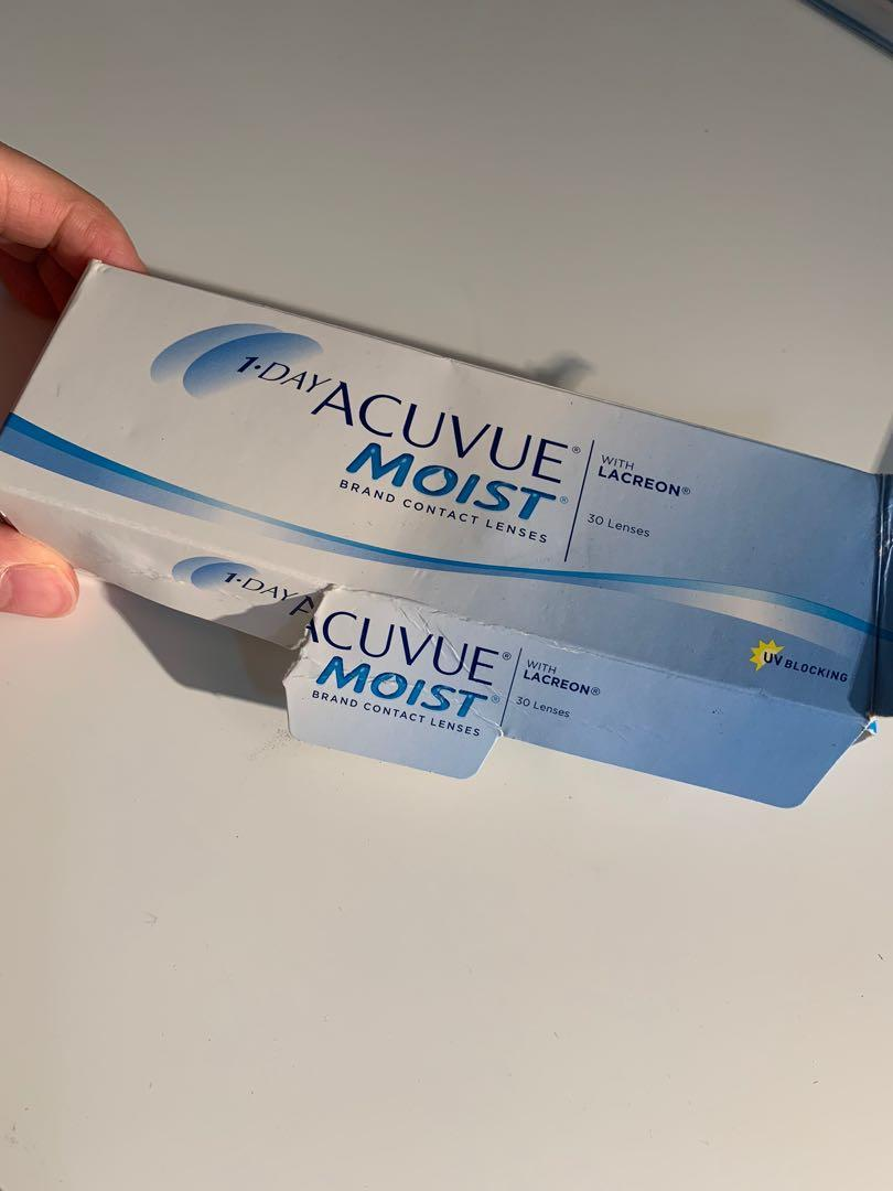 Acuvue Contacts (17 for each respective degree, 34 total)