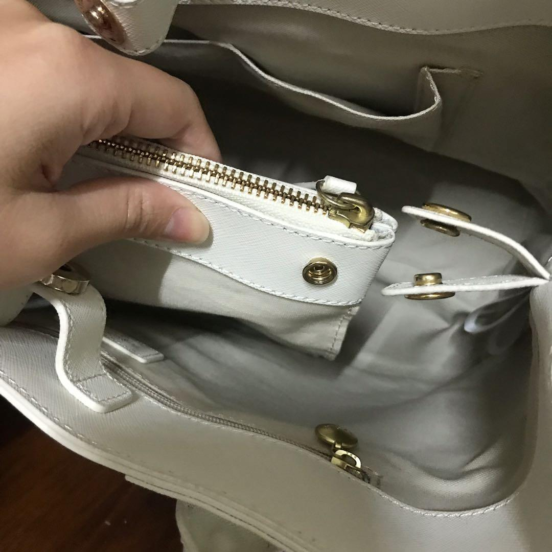 agnès b. New York方型皮革手提包,小b包