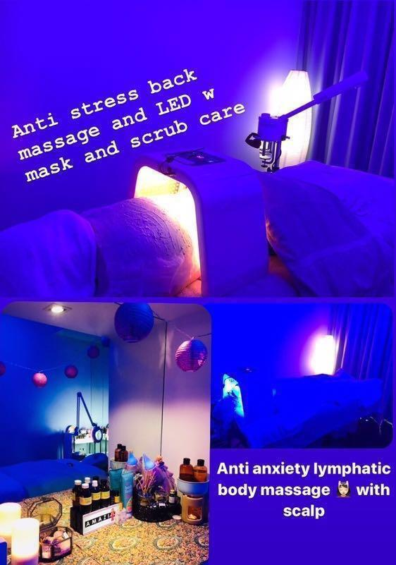 Anti - anxiety body massage trmt 1hr  with scalp massage for ladies or anti stress back x pampering b scrub $55 for ladies ♥️only pls !!