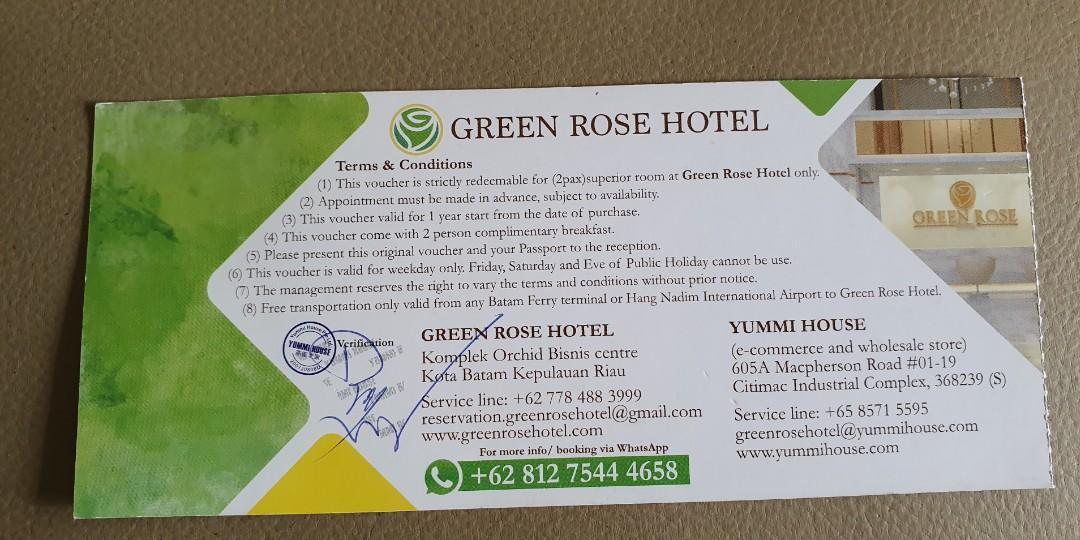 Batam 2d1n@green rose hotel