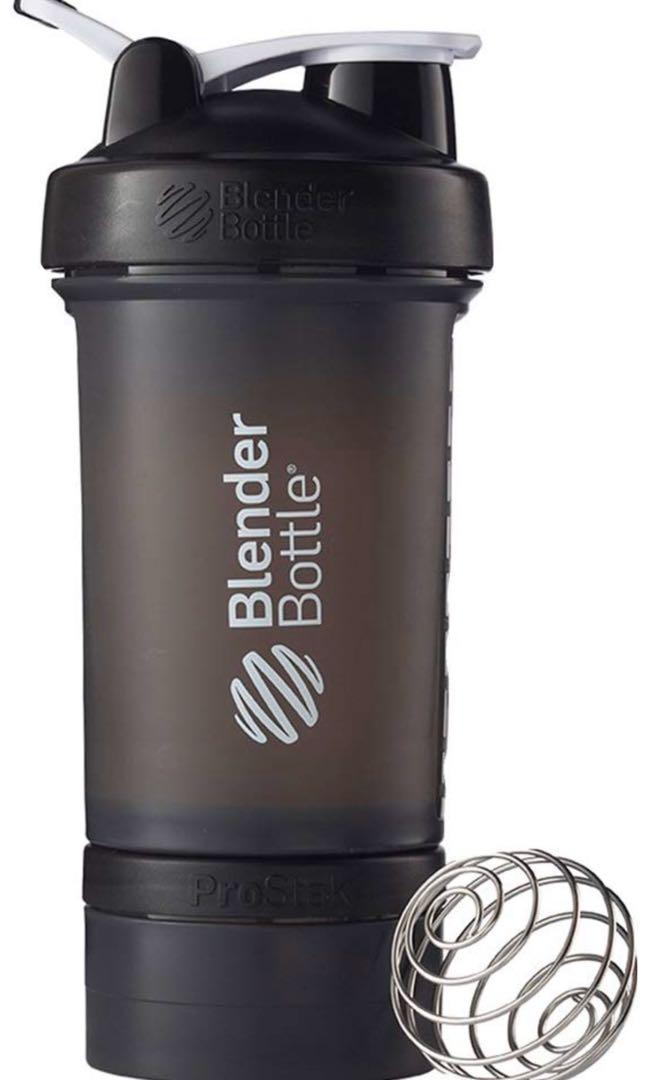 Blenderbottle ProStak system with 22-ounce bottle and twist N lock storage