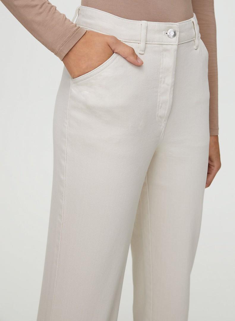 BNWT Aritzia Wilfred Free Kelsey high Waisted utility pants sz 2 bone colour (cream/white)