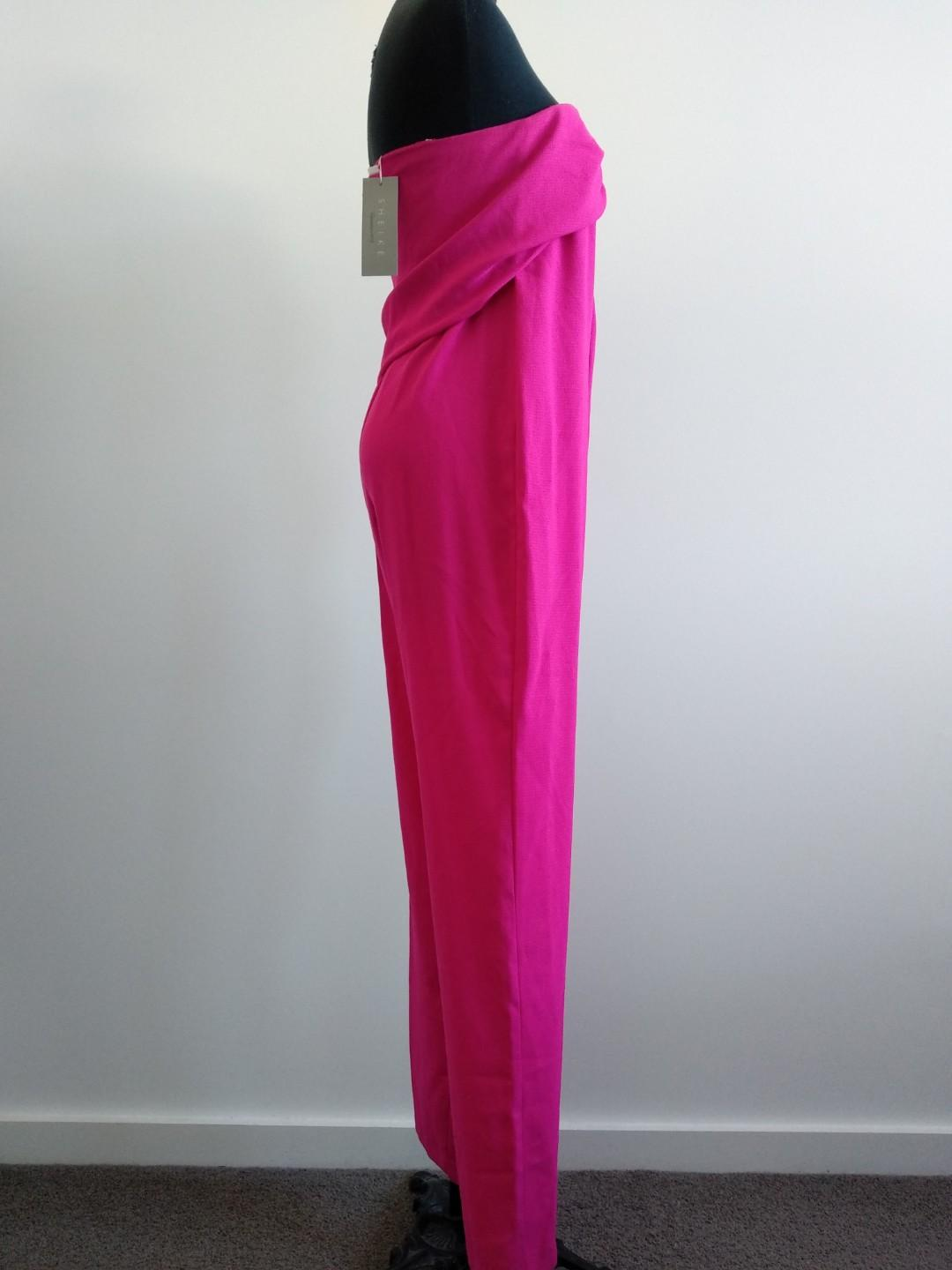 BNWT new Sheike hot pink jumpsuit strapless size 6
