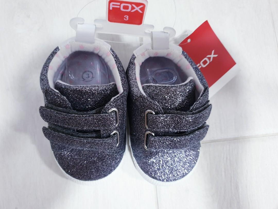 [BRAND NEW] FOX baby girl glitter shoes!