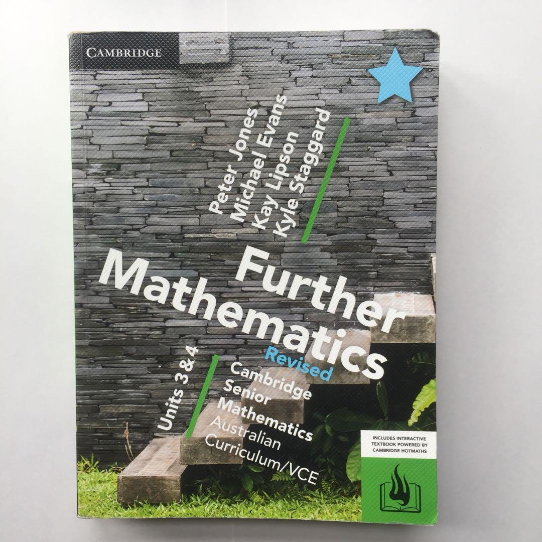 Cambridge Further Mathematics Revised VCE Units 3&4 textbook