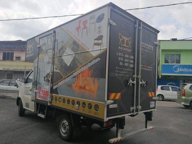Chana Panal van food truck box van Luton pasar malam