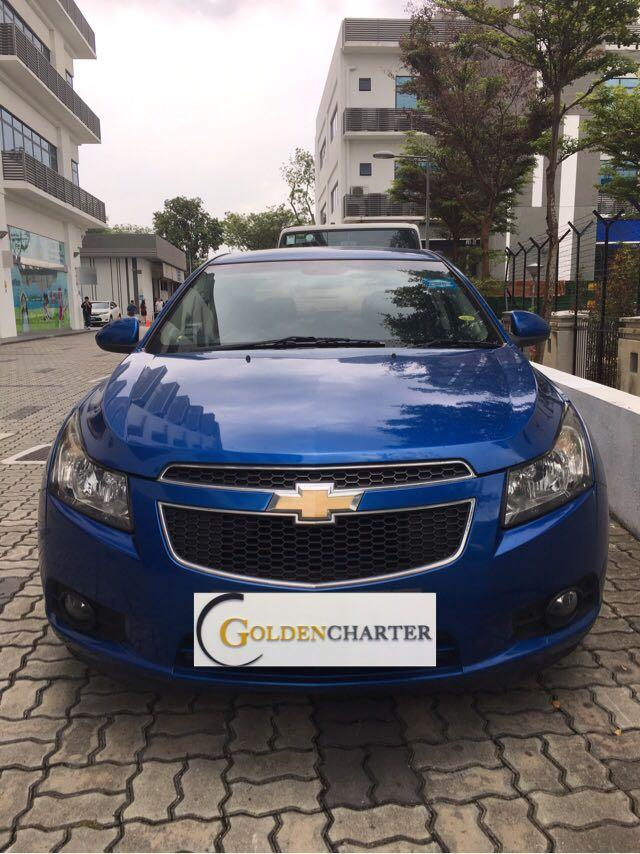 Chevrolet Cruze 1.6A Available For Rental! Weekly gojek rental rebate! Personal can rent!