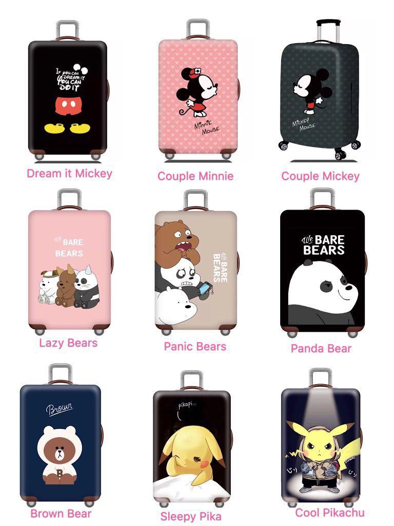 Cute Luggage Cover We Bare Bears Mickey Christmas Gift