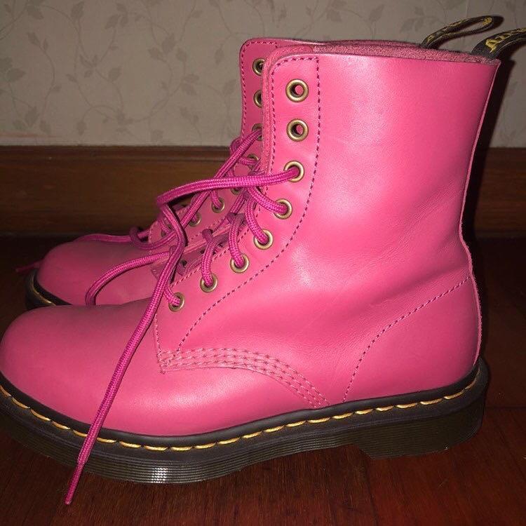 Dr. Martens Boots Hot Pink Virginia