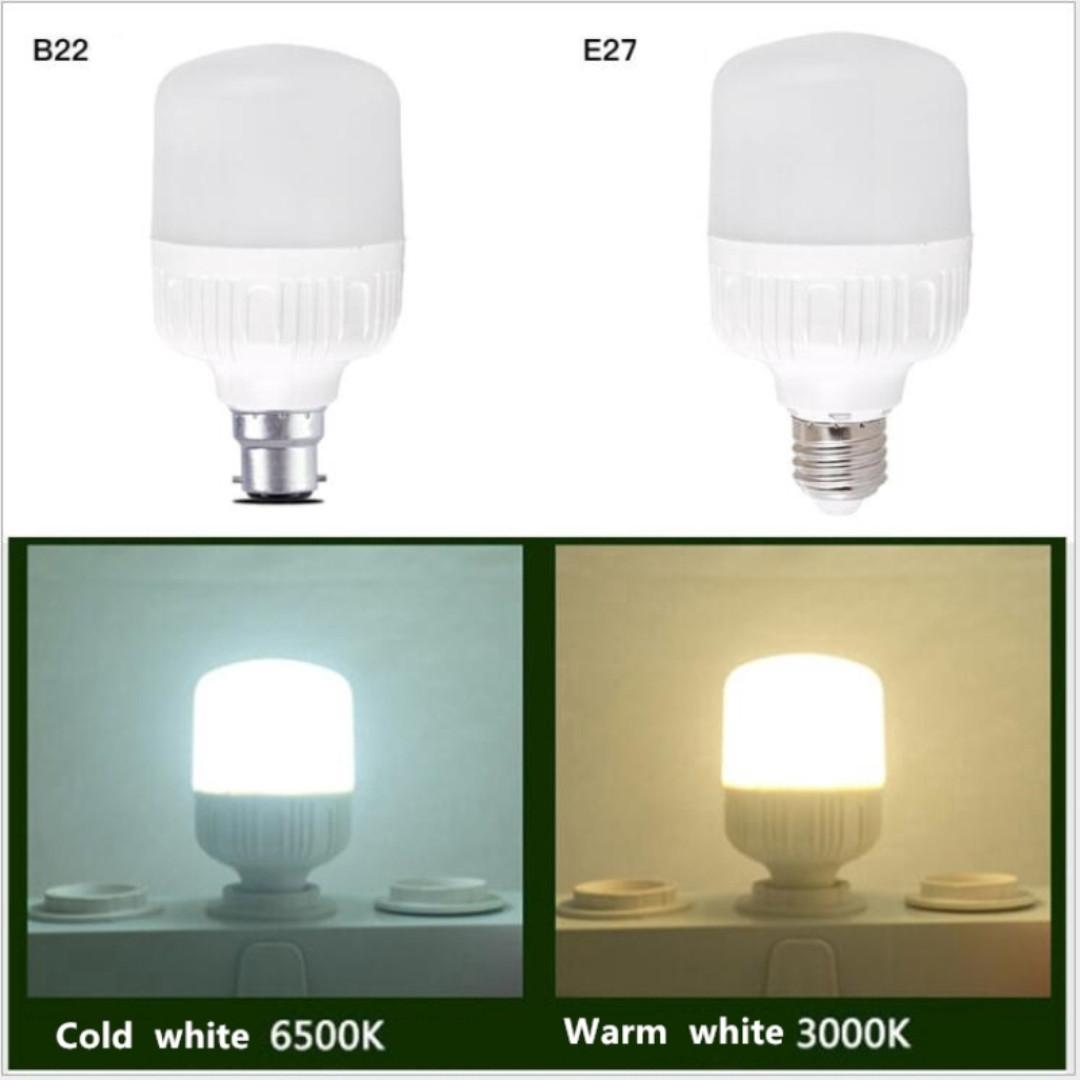 e27 LED Light Bulb 5W/10W/15W/20W/30W e27 LED White Light Bulb/ e27 LED Warm White Light Bulb Plastic plus Aluminum Lamps High Brightness
