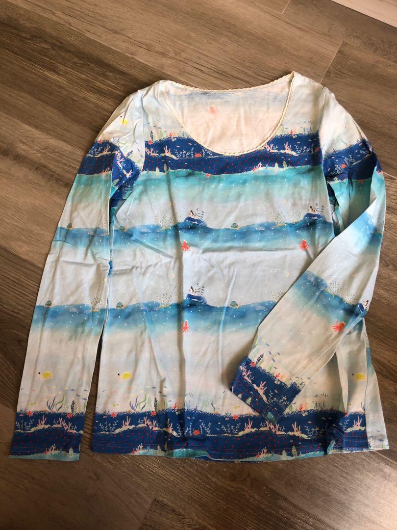 Franche lippee 藍色海洋長袖衫