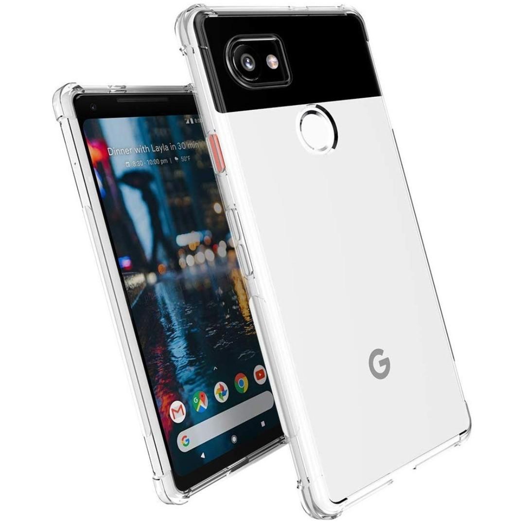 Google Pixel 2 XL Clear / Transparent Shock Proof TPU Case